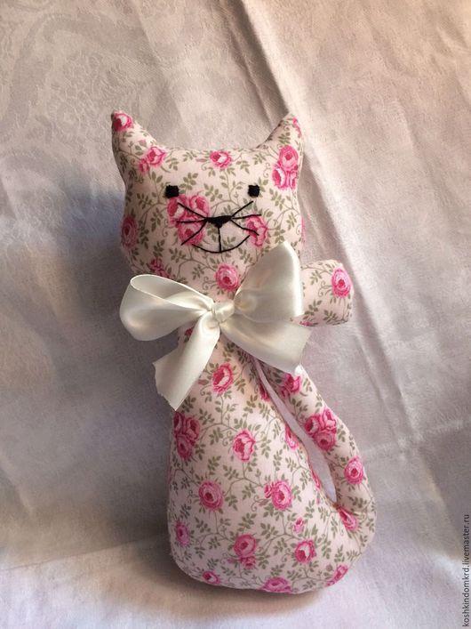 Игрушки животные, ручной работы. Ярмарка Мастеров - ручная работа. Купить Текстильный кот Зефирка. Handmade. Розовый, текстильная игрушка