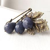 Украшения handmade. Livemaster - original item The brooch on the scarf with purple drops.. Handmade.