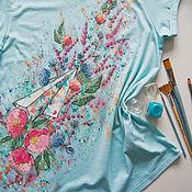 Одежда handmade. Livemaster - original item t-shirt Paper airplane. Handmade.