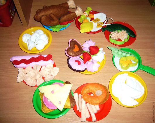 Еда ручной работы. Ярмарка Мастеров - ручная работа. Купить Еда из фетра для кукол. Handmade. Комбинированный, для детской комнаты, продукты
