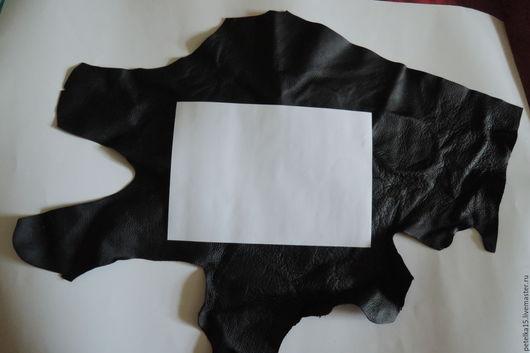 Шитье ручной работы. Ярмарка Мастеров - ручная работа. Купить Лоскуты натуральной кожи цвет черный. Handmade. Черный