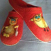 Обувь ручной работы. Ярмарка Мастеров - ручная работа тапочки домашние Котейки-5. Handmade.