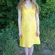 Одежда ручной работы. Ярмарка Мастеров - ручная работа Платье валяное Солнечное. Handmade.