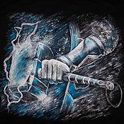 Одежда handmade. Livemaster - original item T-shirt mens painted