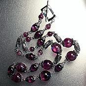 Украшения handmade. Livemaster - original item Amethyst chain necklace. Handmade.