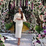 Одежда handmade. Livemaster - original item White dress, dress with voluminous sleeves!. Handmade.