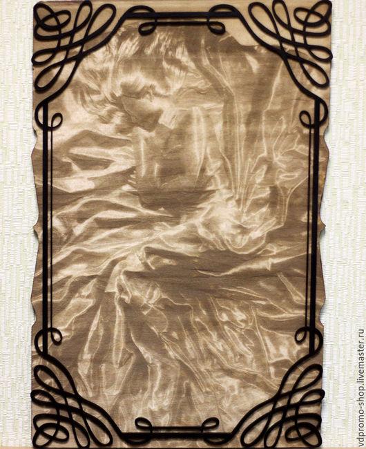 Люди, ручной работы. Ярмарка Мастеров - ручная работа. Купить Картина из дерева Сон. Handmade. Коричневый, сон, девушка