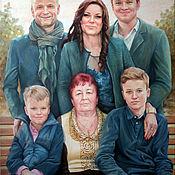 Картины и панно handmade. Livemaster - original item Family portrait oil on canvas.. Handmade.