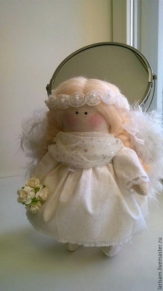 Коллекционные куклы ручной работы. Ярмарка Мастеров - ручная работа. Купить малышка ангел. Handmade. Белый, кружево