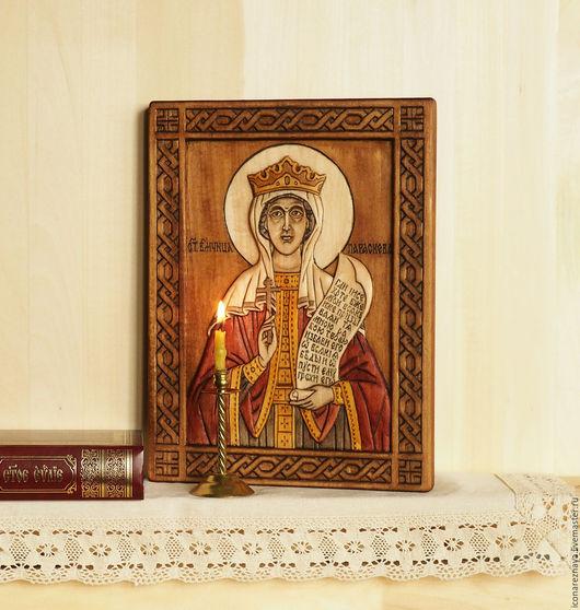 «Святая Параскева Пятница» - икона резная из дерева.  резная икона. Святая Параскева. Параскева Пятница. Макошь. Мокошь.