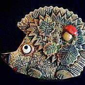 Картины и панно handmade. Livemaster - original item Ceramic mural hedgehog. Handmade.