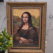 Картины и панно ручной работы. Ярмарка Мастеров - ручная работа Вышивка крестом Мона Лиза (Джоконда). Handmade.