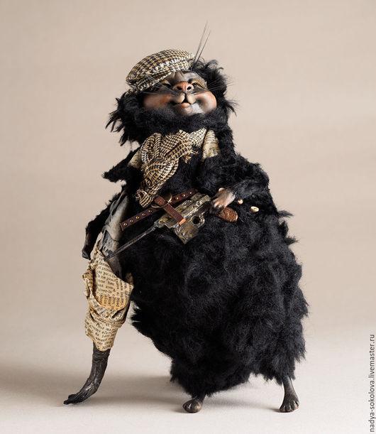 Коллекционные куклы ручной работы. Ярмарка Мастеров - ручная работа. Купить БегеМотя. Handmade. Черный, кот, Мастер и Маргарита