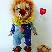 Мягкие игрушки ручной работы. Ярмарка Мастеров - ручная работа Очаровательный и весёлый клоун Стёпа.. Handmade.