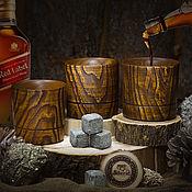 Посуда handmade. Livemaster - original item Set of three whiskey glasses made of Siberian Elm wood WN2. Handmade.