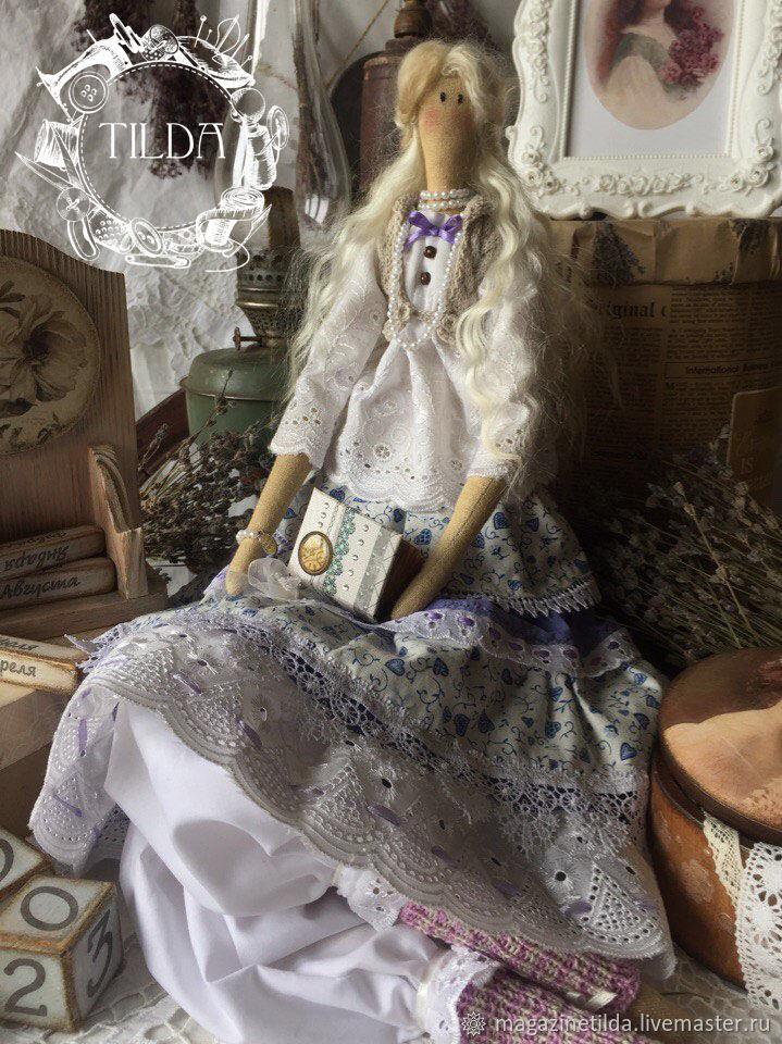 ручной работы. Ярмарка Мастеров - ручная работа. Купить ISOLDE. Handmade. Белый, лаванда, handmade doll, кружево, шерсть