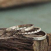 Украшения ручной работы. Ярмарка Мастеров - ручная работа Набор из трёх серебряных колец. Handmade.