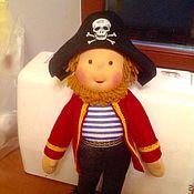Куклы и игрушки ручной работы. Ярмарка Мастеров - ручная работа Веселый пират - Вальдорфская игровая кукла. Handmade.