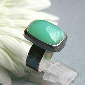 Rings handmade. Livemaster - original item Ring with chrysoprase. Silver. Handmade.