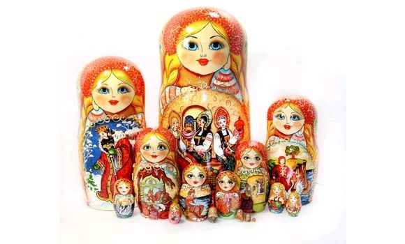Матрешка Царь Салтан 15мест 33см, Народная кукла, Шатура,  Фото №1