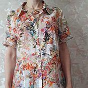 Одежда ручной работы. Ярмарка Мастеров - ручная работа Батистовая блузка. Handmade.