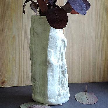 Для дома и интерьера ручной работы. Ярмарка Мастеров - ручная работа Вазы: Вазы: Ваза керамическая Белый-белый день. Handmade.