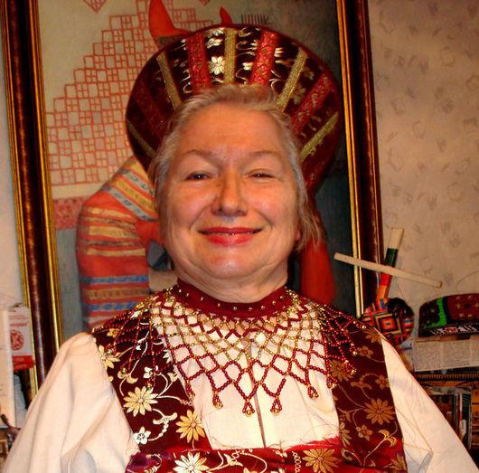 Русский народный аксессуар из бисера- `Ожерелок северный.