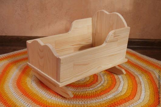 Развивающие игрушки ручной работы. Ярмарка Мастеров - ручная работа. Купить Кукольная кроватка № 1. Handmade. Бежевый