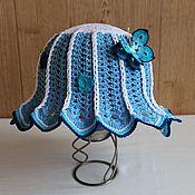 """Работы для детей, ручной работы. Ярмарка Мастеров - ручная работа Панамка для девочки """"Голубое небо"""". Handmade."""