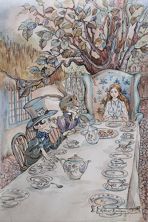 Фантазийные сюжеты ручной работы. Ярмарка Мастеров - ручная работа. Купить Алиса в стране чудес. Handmade. Алиса в стране чудес