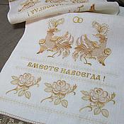 Свадебный салон handmade. Livemaster - original item Towel for wedding under the feet of