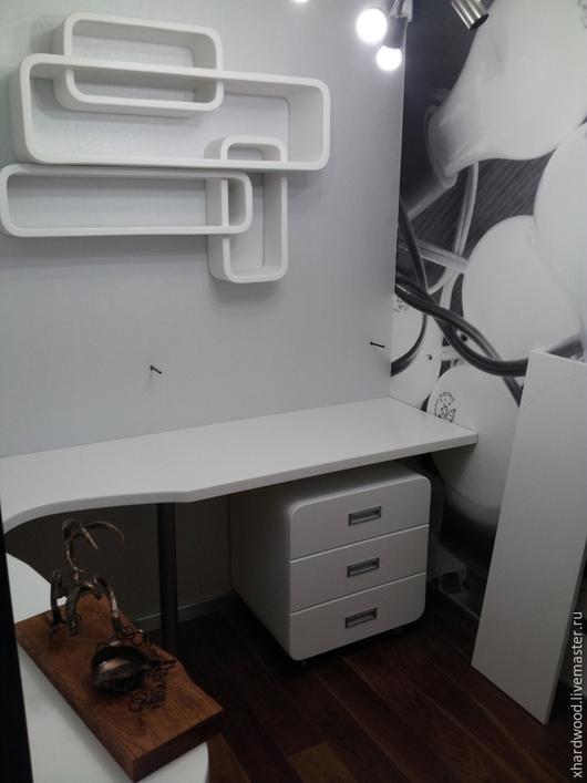 Мебель ручной работы. Ярмарка Мастеров - ручная работа. Купить Рабочий кабинет. Handmade. Белый, дерево