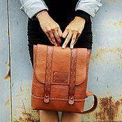 Сумки и аксессуары handmade. Livemaster - original item Backpack genuine leather