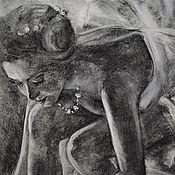 Картины и панно handmade. Livemaster - original item Graphics, author`s charcoal drawing . Ballerina .. Handmade.