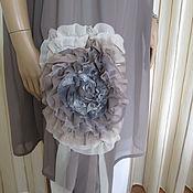 Одежда handmade. Livemaster - original item Tunic with flower. Handmade.