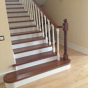 Для дома и интерьера ручной работы. Ярмарка Мастеров - ручная работа Лестница из массива дуб на зака. Handmade.