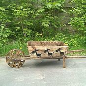 Цветы и флористика ручной работы. Ярмарка Мастеров - ручная работа Тележка из дерева. Handmade.