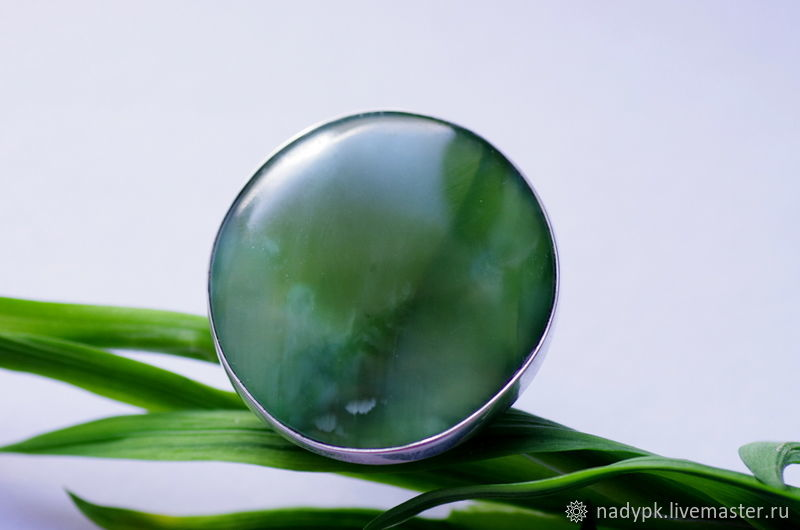Ring: With jade 'Silk herbs', silver, Rings, Moscow,  Фото №1