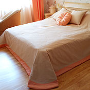 Для дома и интерьера handmade. Livemaster - original item The linens for the bedroom in peach tones. Handmade.
