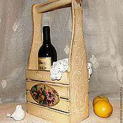 """Короб ручной работы. Ярмарка Мастеров - ручная работа Короб для бутылок """"Под солнцем Прованса"""". Handmade."""