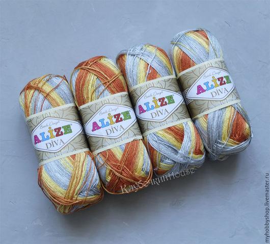 Вязание ручной работы. Ярмарка Мастеров - ручная работа. Купить пряжа Alize Diva Batik. Handmade. Пряжа, пряжа в наличии
