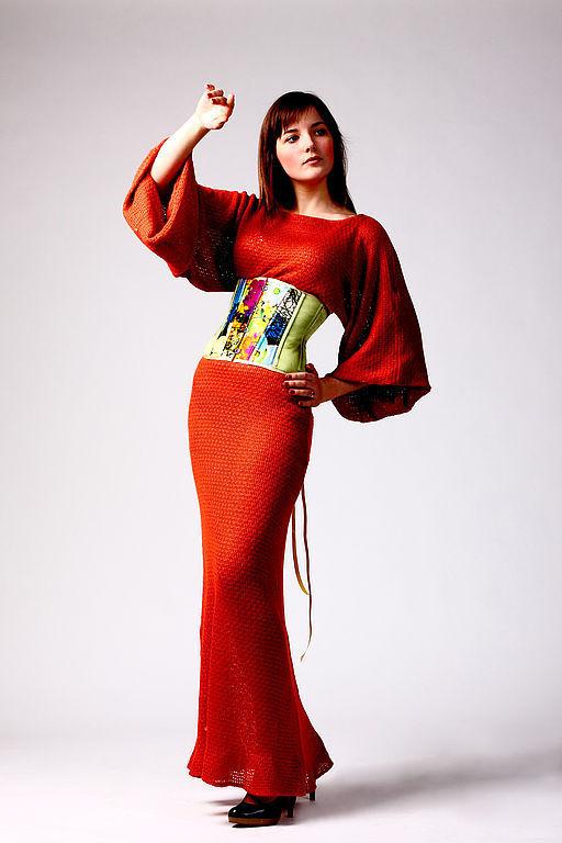 """Платья ручной работы. Ярмарка Мастеров - ручная работа. Купить Трикотажное платье """"Sunset"""". Handmade. Платье"""