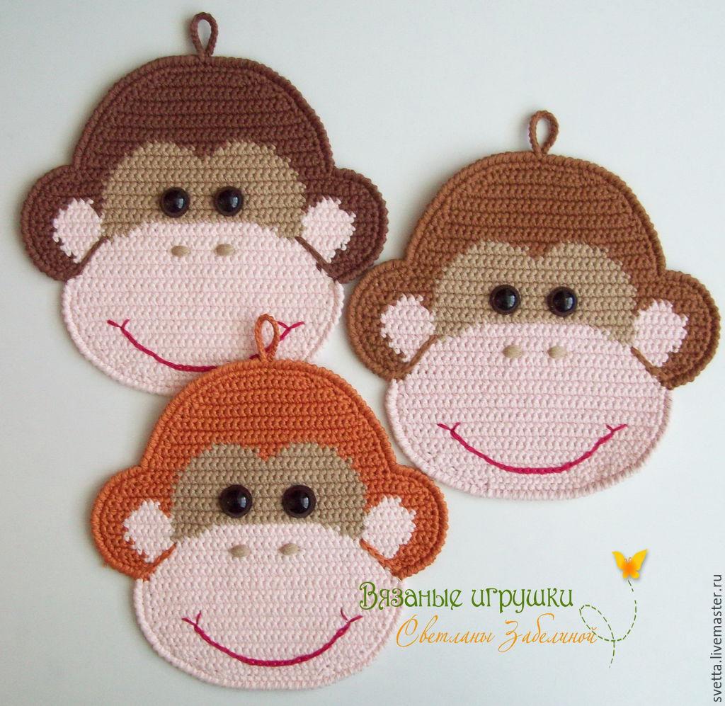 Прихватки обезьянки своими руками к новому году