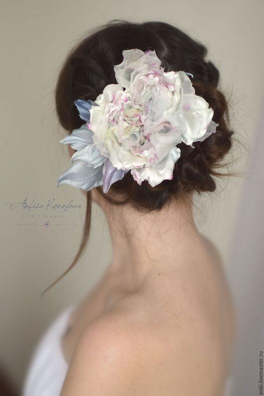 Свадебные украшения ручной работы. Ярмарка Мастеров - ручная работа. Купить Украшение для невесты - Шелковые Розы. Handmade. Бледно-розовый