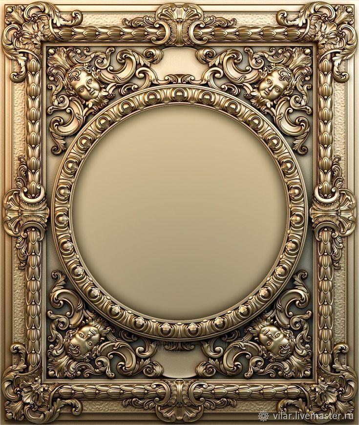 Рамка - панно барокко, Декор для декупажа и росписи, Балашиха,  Фото №1