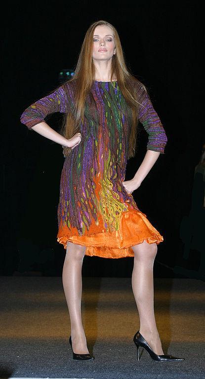 """Платья ручной работы. Ярмарка Мастеров - ручная работа. Купить Платье """"В цвету"""". Handmade. Дизайнерская одежда, вязаное платье"""