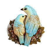 Украшения handmade. Livemaster - original item Brooch with birds