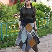 Одежда ручной работы. Ярмарка Мастеров - ручная работа Лоскутная юбка-полусолнце.. Handmade.