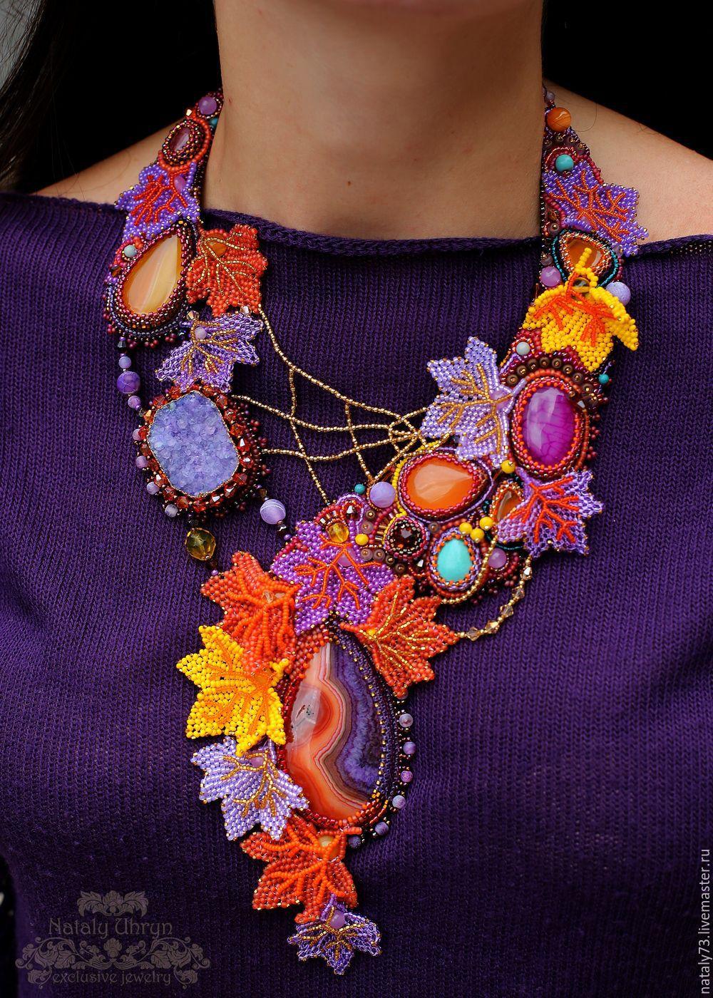 Competitive necklace 'Autumn joy', Necklace, Lviv,  Фото №1