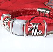 Украшения handmade. Livemaster - original item Bracelet Regaliz Red and Grey. Handmade.